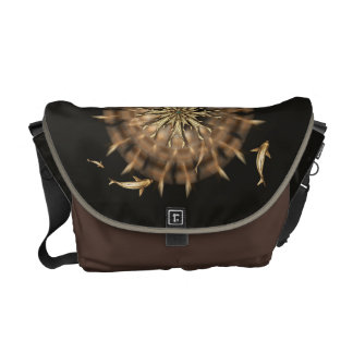 Brass Koi Metal Mandala Messenger Bag