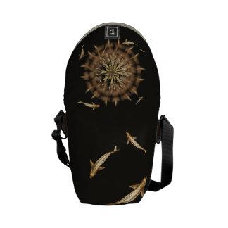 Brass Koi Metal Mandala mini Messenger Bag