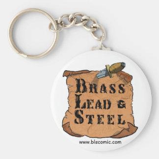 Brass Lead & Steel Key Ring