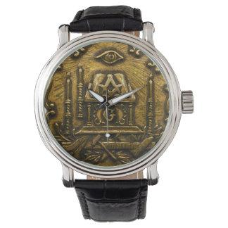 Brass Masonic Image Watch