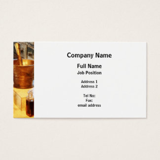 Brass Mortar and Pestle Business Card