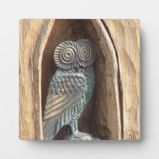 """Brass Owl"" Display Plaque"