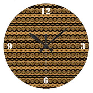 Brass Tacks Round Wall Clock