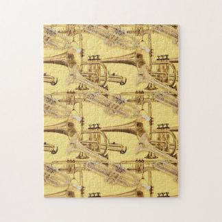 Brass Trumpet Pattern Jigsaw Puzzle