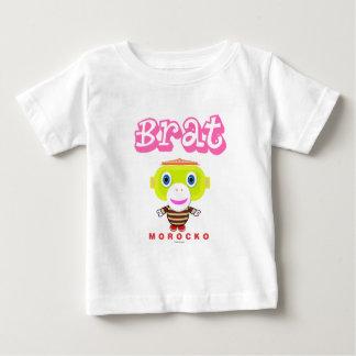Brat-Cute Monkey-Morocko Baby T-Shirt