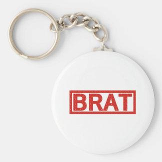 Brat Stamp Basic Round Button Key Ring