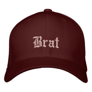 Brat: Truth in advertising - pink and ornate Embroidered Hat