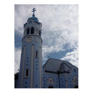bratislava blue tower postcard