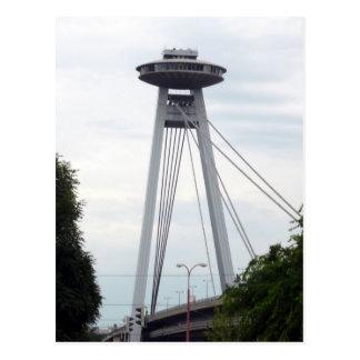 bratislava bridge ufo postcard