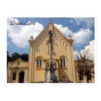 bratislava capuchin border post card