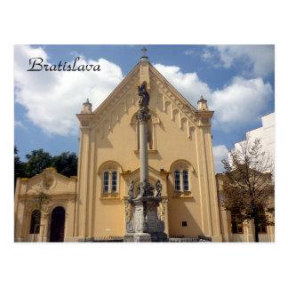 bratislava capuchin church postcard