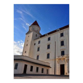 Bratislava castle 17 cm x 22 cm invitation card