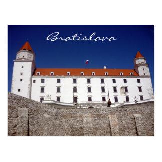bratislava castle blue postcard