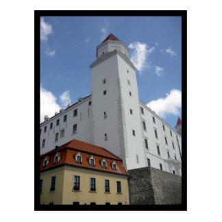 bratislava castle border postcard