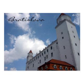 bratislava castle corner postcard
