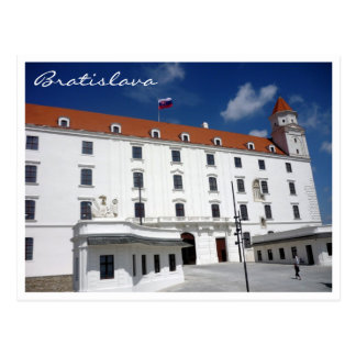 bratislava castle sky border postcard
