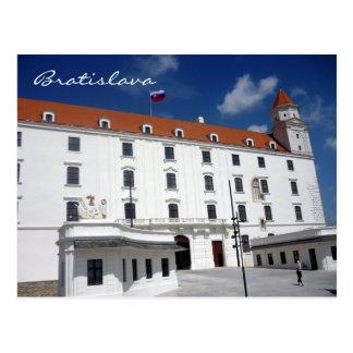 bratislava castle sky postcard