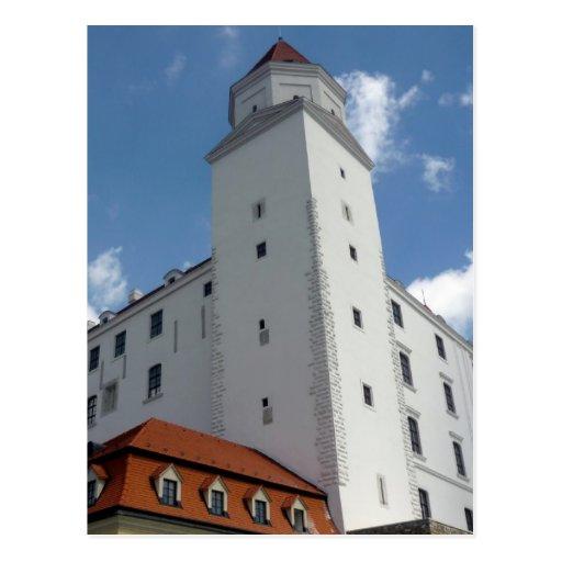 bratislava castle tower postcards