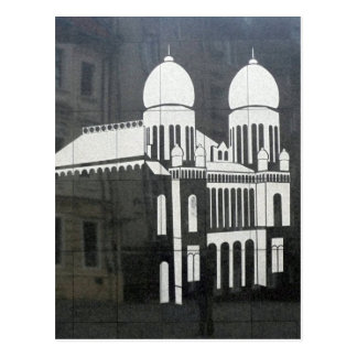 bratislava castle white postcard