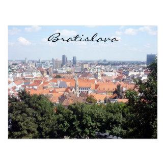 bratislava city green postcard