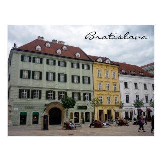 bratislava city square postcard