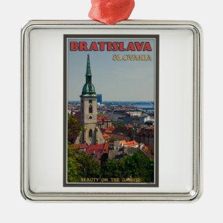 Bratislava Cityscape Metal Ornament