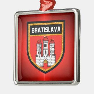 Bratislava Flag Metal Ornament