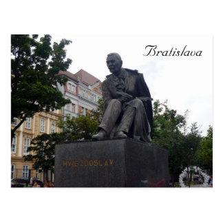 bratislava hviezdoslav statue postcard