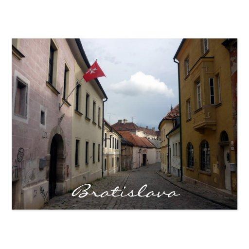 bratislava lanes post cards