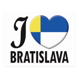 Bratislava Love Postcard