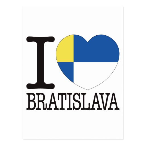 Bratislava Love v2 Postcard