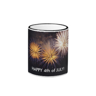 Bratislava_New_Year_Fireworks, HAPPY 4th of JULY! Coffee Mug