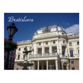 bratislava slovak theatre postcard