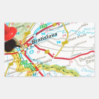 Bratislava, Slovakia Rectangular Sticker