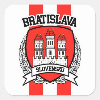 Bratislava Square Sticker