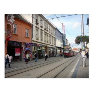 bratislava street tram postcard