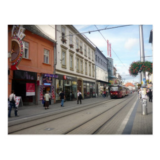bratislava street tram postcards