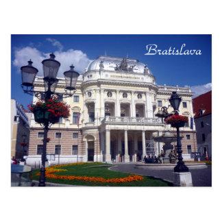 bratislava theatre blue postcard