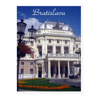 bratislava theatre lawn postcard