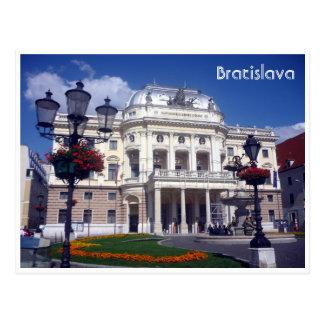 bratislava theatre slovakia postcard