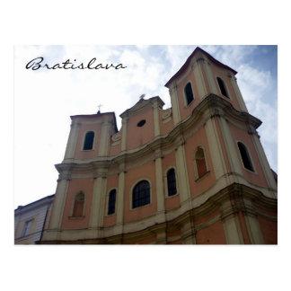 bratislava trinity church postcard