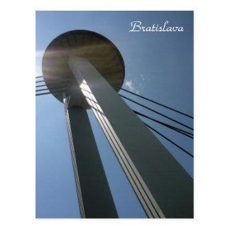 bratislava ufo high postcard
