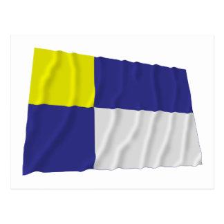 Bratislava Waving Flag Postcard