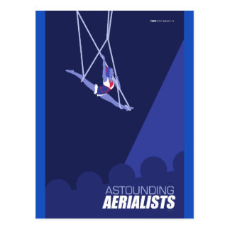 Brattleboro Circus Arts - Astounding Aerialists Postcard