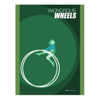Brattleboro Circus Arts - Wondrous Wheels Postcard