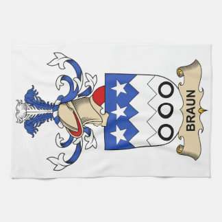 Braun Family Crests Tea Towel