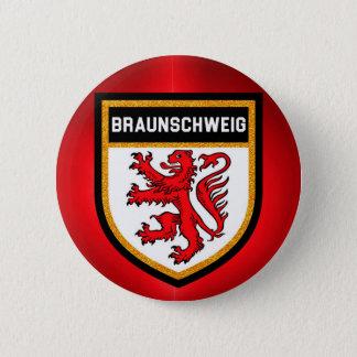 Braunschweig Flag 6 Cm Round Badge