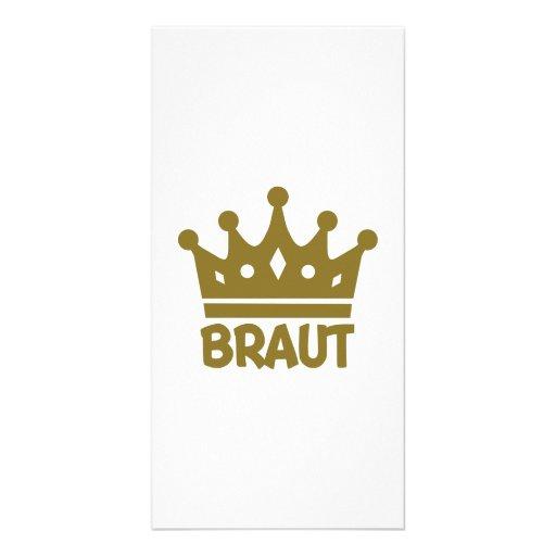 Braut Photo Greeting Card