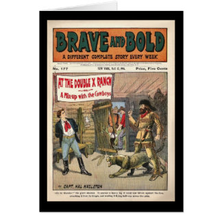 Brave and Bold Serial Western Comic Book- 1906 Greeting Card