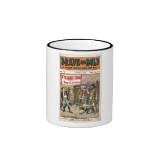 Brave and Bold Serial Western Comic Book- 1906 Coffee Mugs